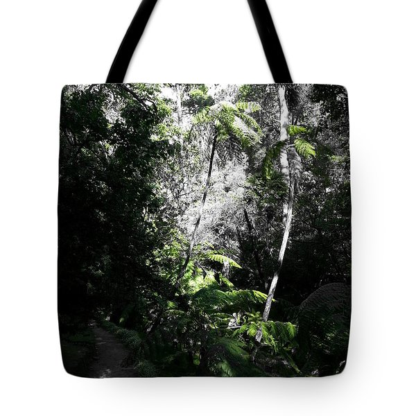 Tote Bag featuring the photograph Fenced Green by Rushan Ruzaick
