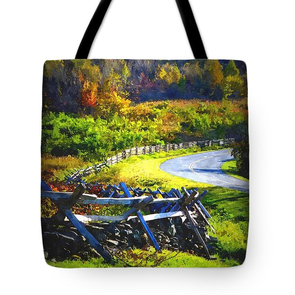Tote Bag featuring the photograph Fenced In by Cathy Shiflett