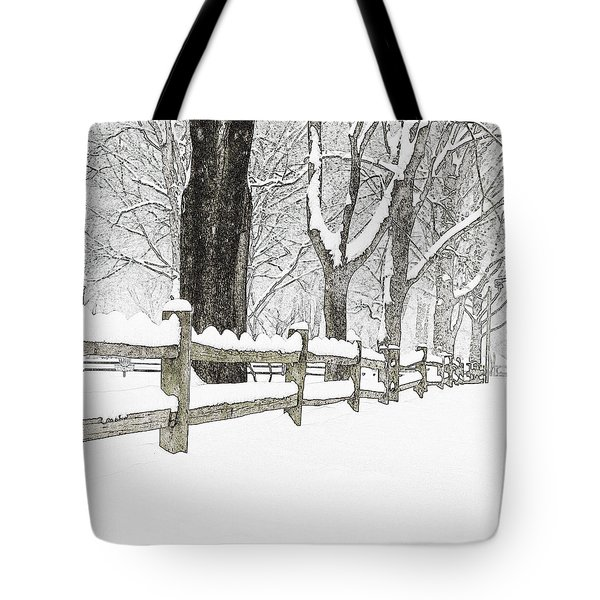 Fenced In Forest Tote Bag by John Stephens