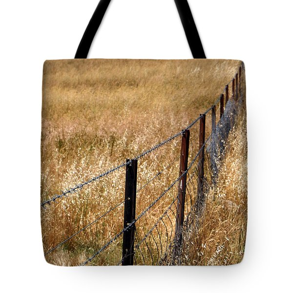 Fenced Off Tote Bag by Kaleidoscopik Photography