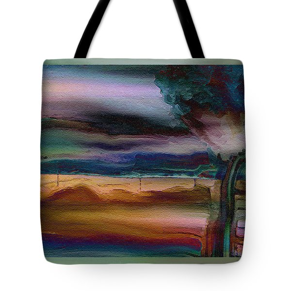 Fences In The Mist Tote Bag by Lenore Senior