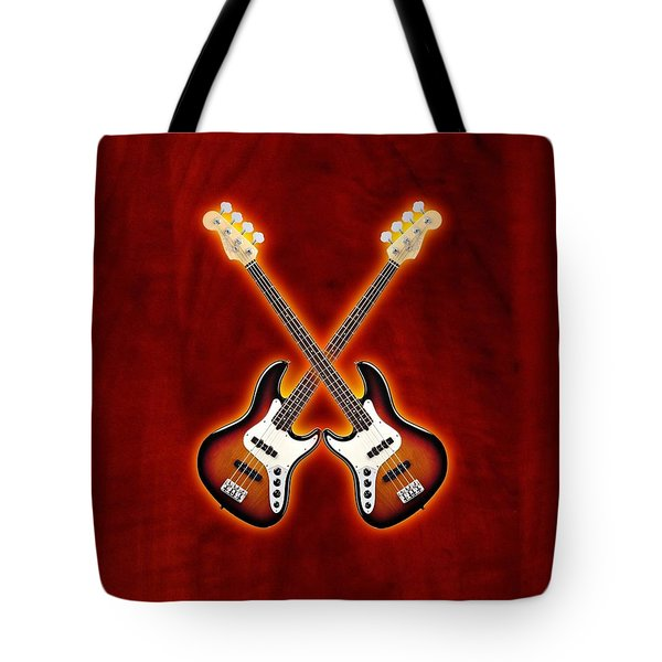 Fender Jazz Bass Lefty Tote Bag by Doron Mafdoos