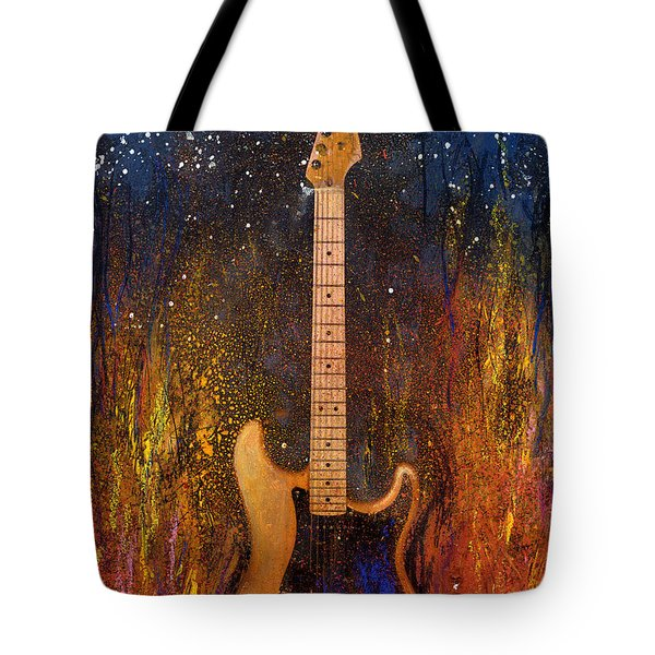 Fender On Fire Tote Bag