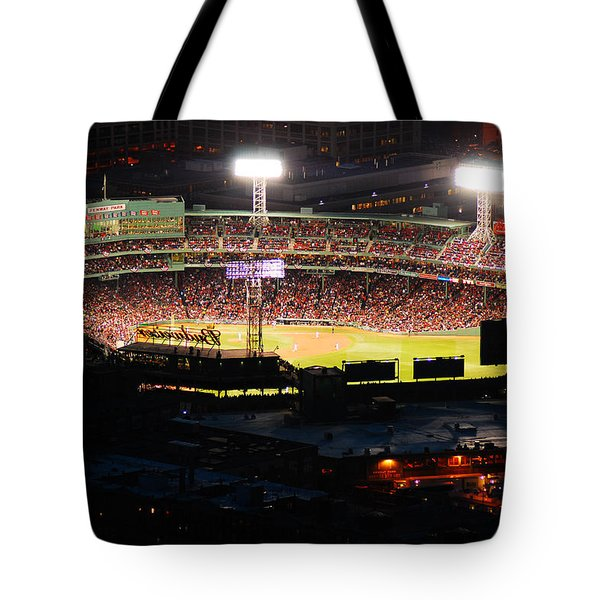 Fenway At Night Tote Bag