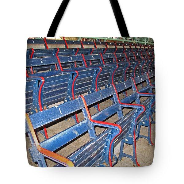 Fenway Blues Seats Tote Bag by Barbara McDevitt