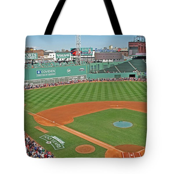 Fenway One Hundred Years Tote Bag by Barbara McDevitt
