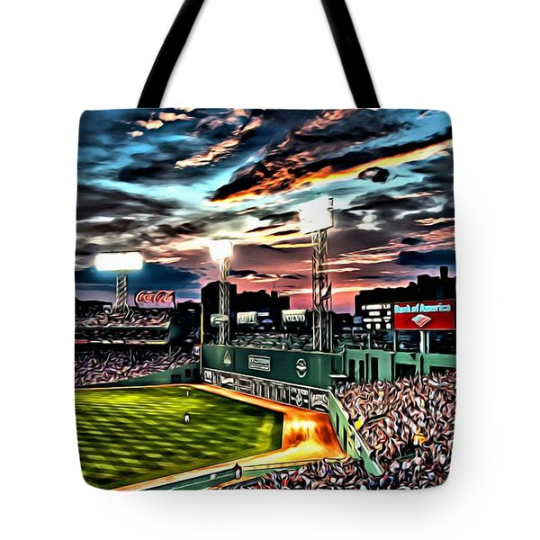 Fenway Park At Sunset Tote Bag