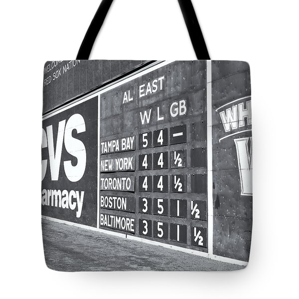 Fenway Park Green Monster Scoreboard II Tote Bag