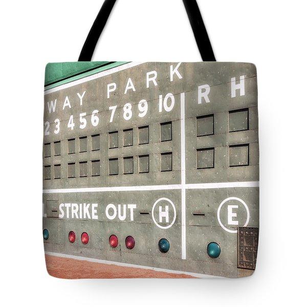 Fenway Park Scoreboard Tote Bag
