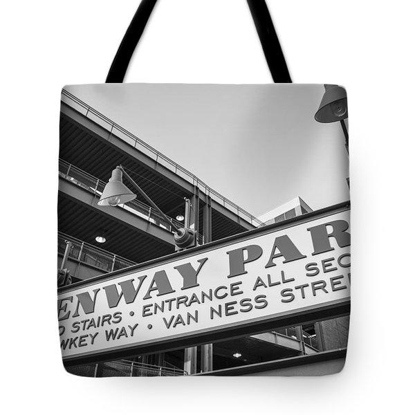 Fenway Park Sign Tote Bag