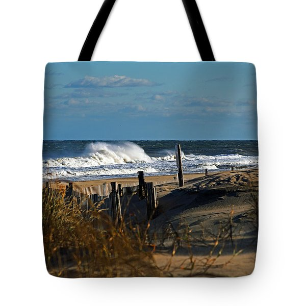 Fenwick Dunes And Waves Tote Bag