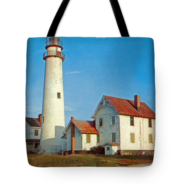Fenwick Island Lighthouse 1950 Tote Bag