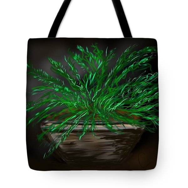 Tote Bag featuring the digital art Fern by Christine Fournier