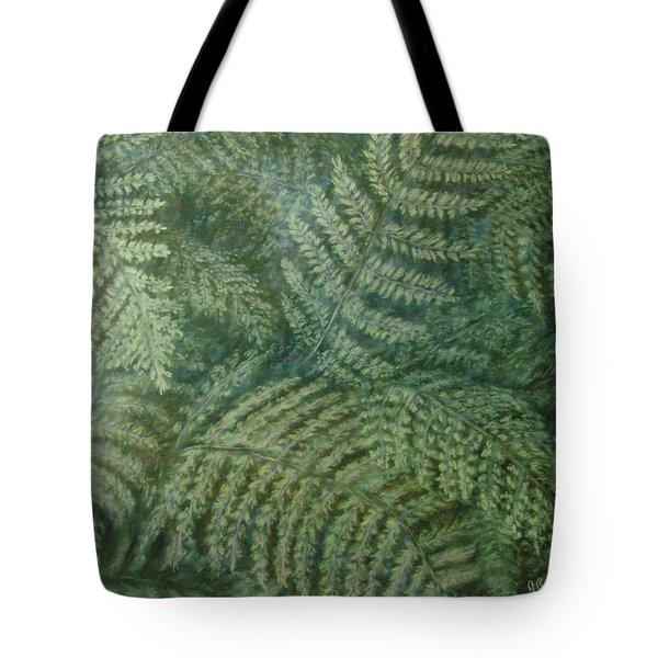 Fern Frenzy Tote Bag by Joann Renner