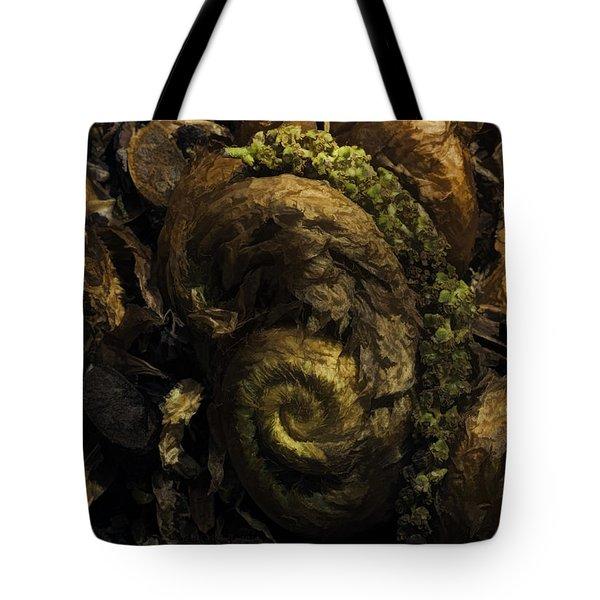 Fern Headdress Tote Bag by Jean OKeeffe Macro Abundance Art