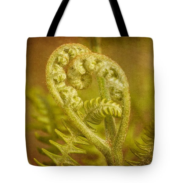 Tote Bag featuring the photograph Fern Heart by Peggy Collins