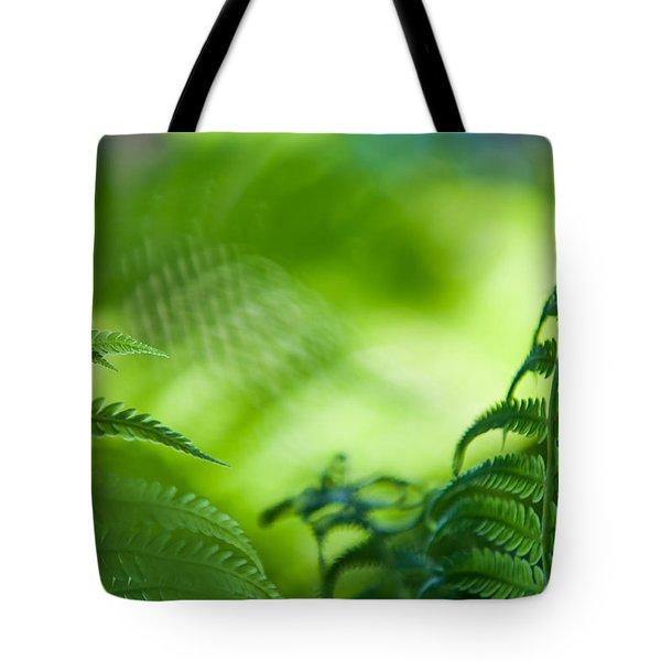Fern Leaves. Healing Art Tote Bag