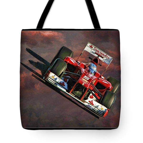 Fernando Alonso Ferrari Tote Bag