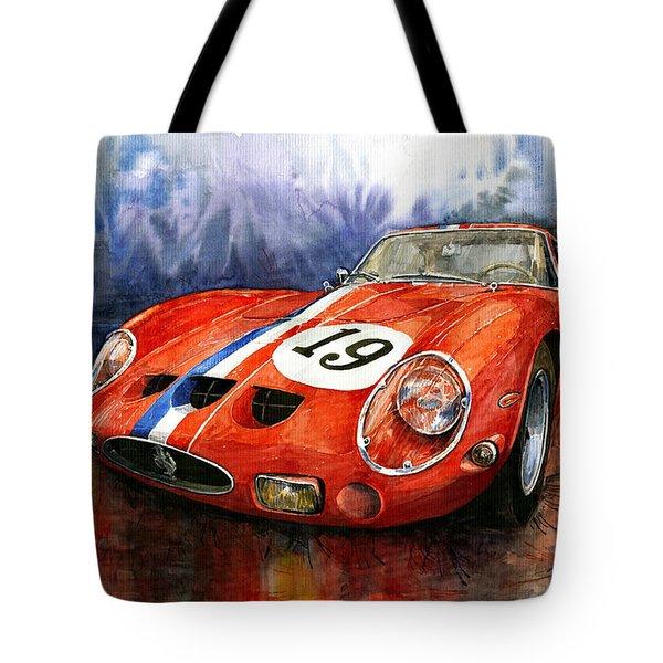 Ferrari 250 Gto 1963 Tote Bag by Yuriy  Shevchuk