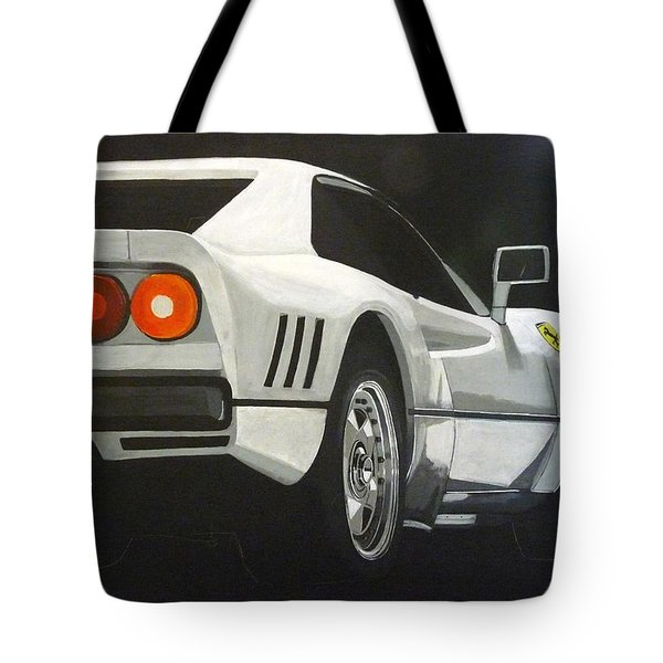 Tote Bag featuring the painting Ferrari 288 Gto by Richard Le Page