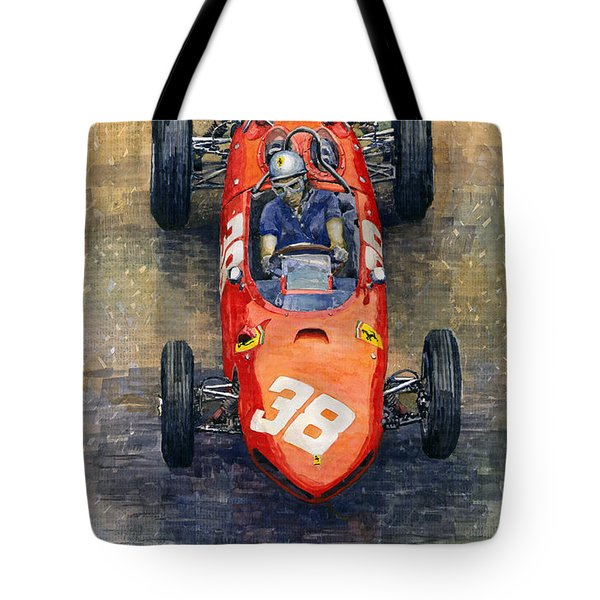 Ferrari Dino 156 1962 Monaco Gp Tote Bag by Yuriy Shevchuk