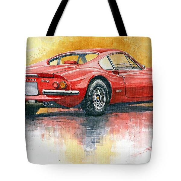 1969-1974 Ferrari Dino 246 Tote Bag