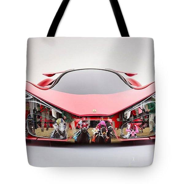 Ferrari F80 Race Horse Tote Bag by Marvin Blaine