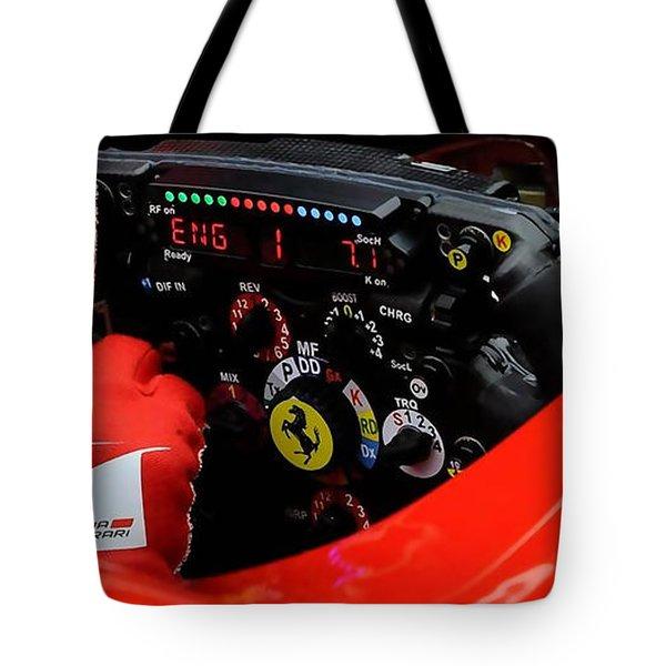 Ferrari Formula 1 Cockpit Tote Bag