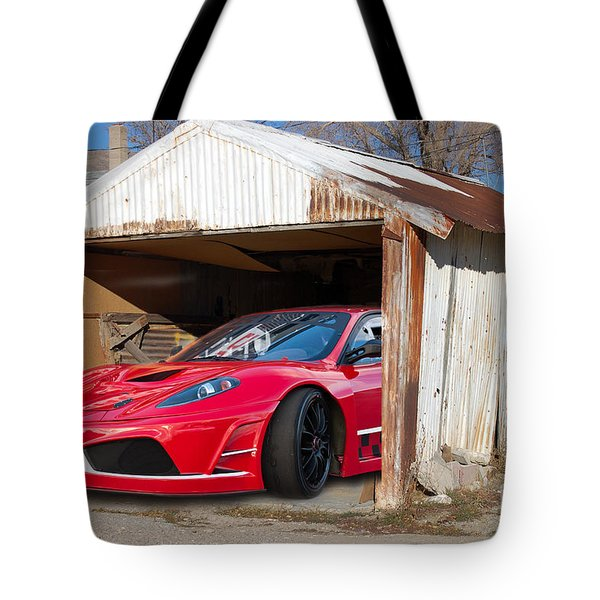 Tote Bag featuring the photograph Ferrari by Gunter Nezhoda
