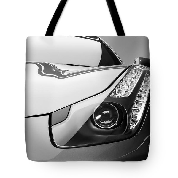 Ferrari Headlight Tote Bag by Matt Malloy