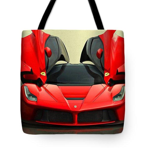 Ferrari Laferrari F 150 Supercar Tote Bag by Movie Poster Prints