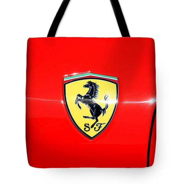 Ferrari Logo Tote Bag
