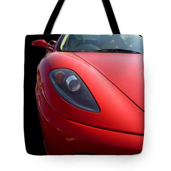 Tote Bag featuring the photograph Ferrari by Vicki Spindler