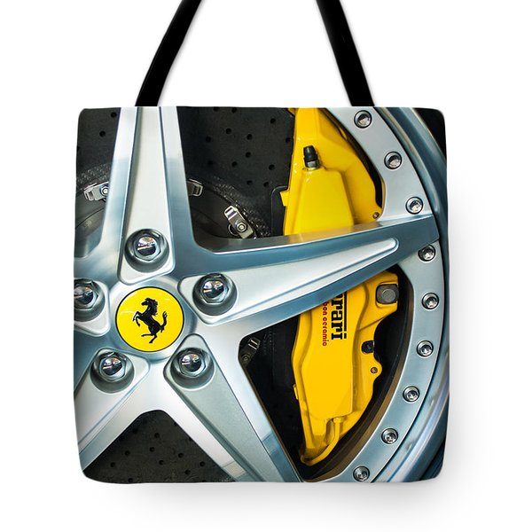 Tote Bag featuring the photograph Ferrari Wheel 3 by Jill Reger