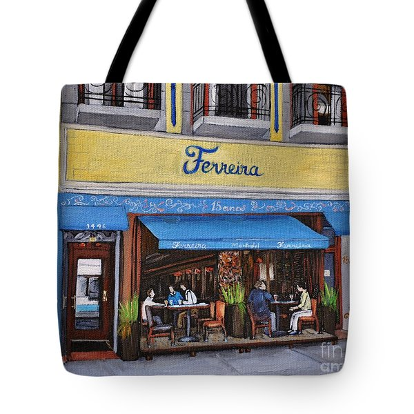 Ferreira Cafe  Tote Bag by Reb Frost