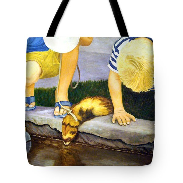 Ferret And Friends Tote Bag