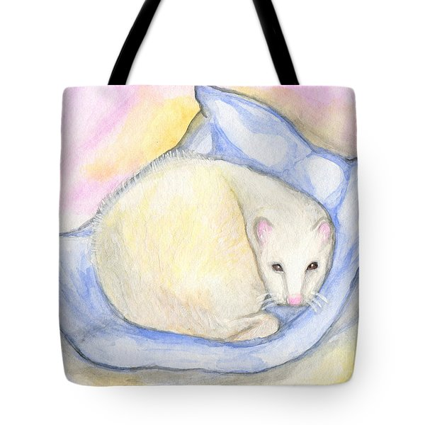 Ferret's Day Off Tote Bag