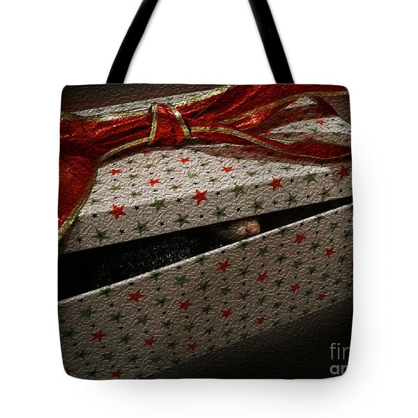 Tote Bag featuring the photograph Ferrety Christmas by Cassandra Buckley