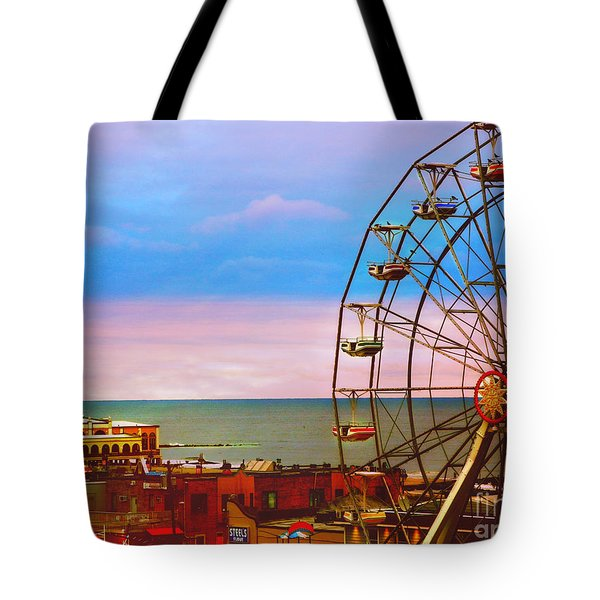 Ocean City New Jersey Ferris Wheel And Music Pier Tote Bag