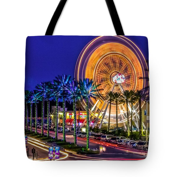 Ferris Wheel At The Wharf Tote Bag by Rob Sellers
