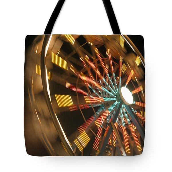 Ferris Wheel Tote Bag by Brandon Tabiolo