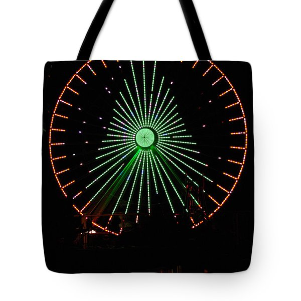 Ferris Wheel Christmas Tree Tote Bag