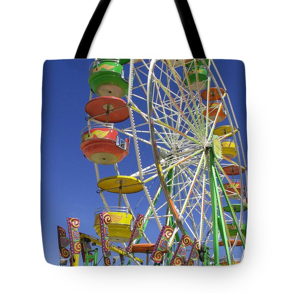 Ferris Wheel Tote Bag by Marcia Socolik