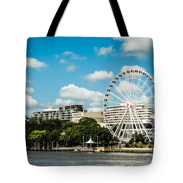 Ferris Wheel On The Brisbane River Tote Bag
