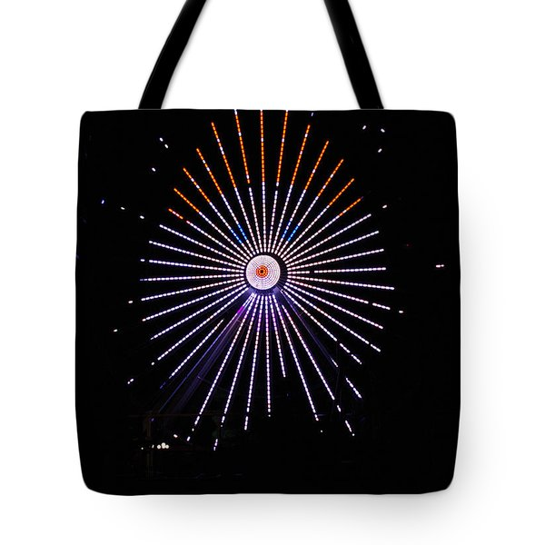 Ferris Wheel Santa Tote Bag