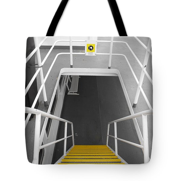 Tote Bag featuring the photograph Ferry Stairwell by Marilyn Wilson