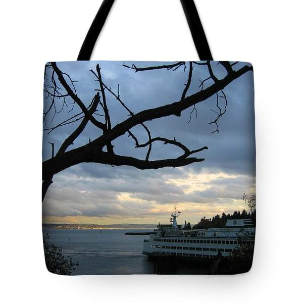 Ferryboat To Seattle  Tote Bag by Kym Backland