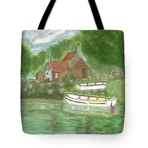 Ferryman's Cottage Tote Bag by Tracey Williams