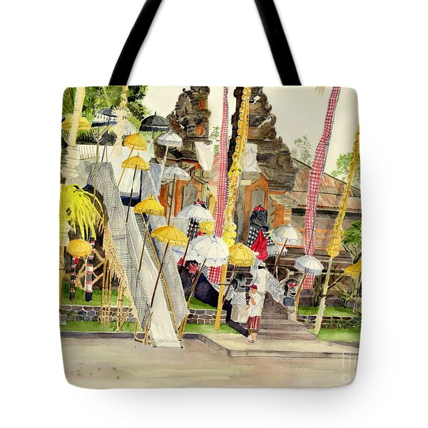 Festival Hindu Ceremony Tote Bag by Melly Terpening