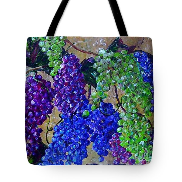 Tote Bag featuring the painting Festival Of Grapes by Eloise Schneider